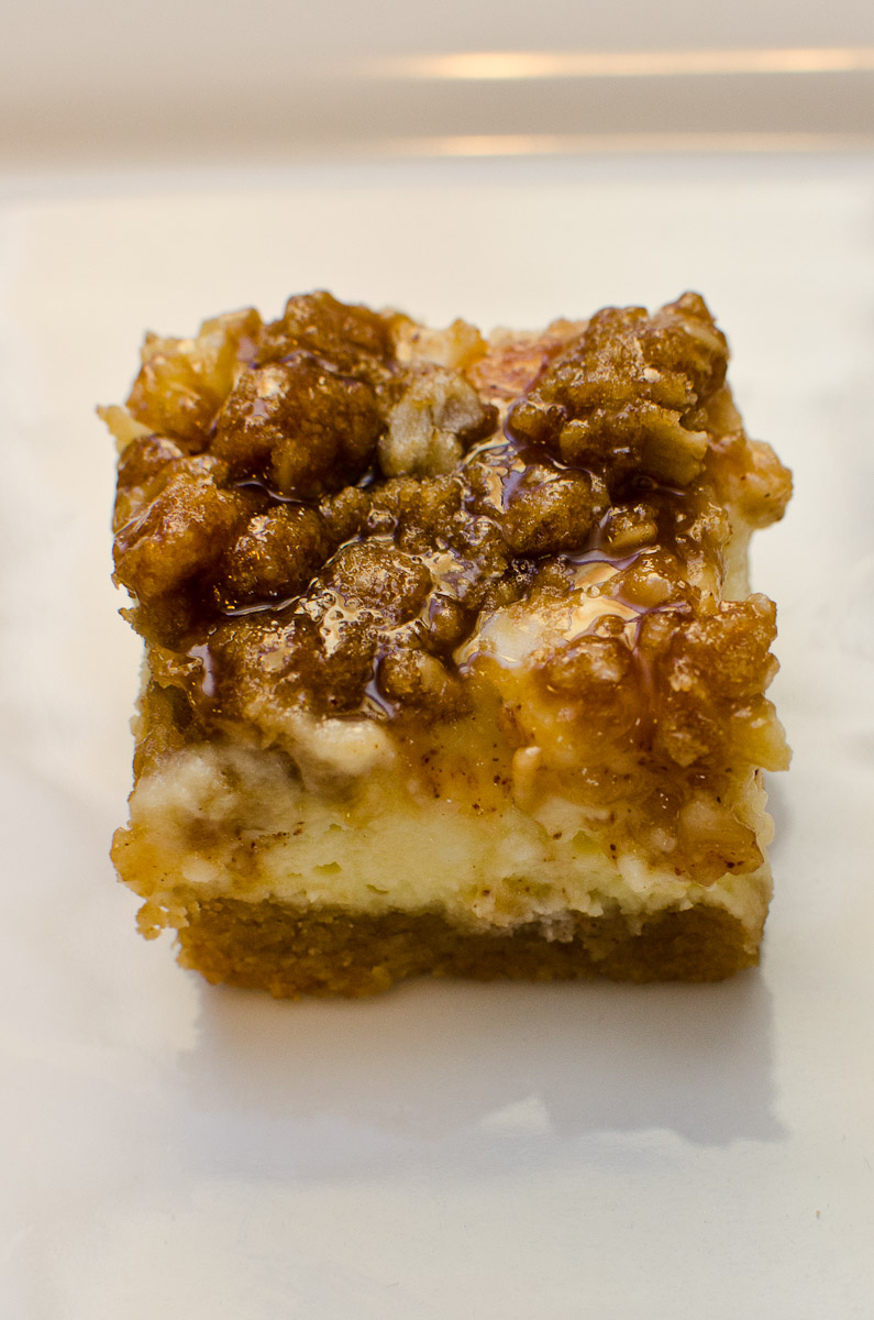 Caramel Apple Cheesecake Bars | Things K Likes